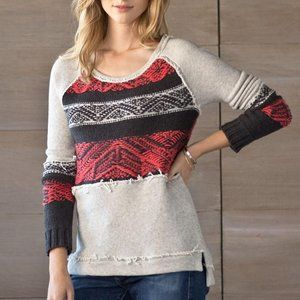 Free People Nordic Knit Pullover Sweater XS